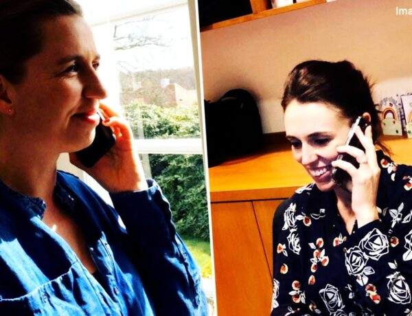 Jacinda Ardern on the phone!